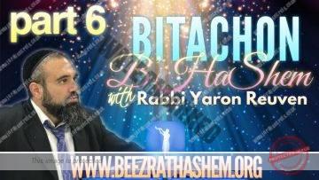 Bitachon BHaShem PART 6 WHY We MUST WORK