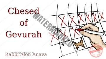 Chesed of Gevurah – Counting the Omer – Say NO from Love… – Rabbi Alon Anava