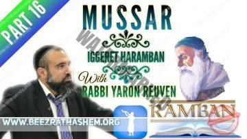 MUSSAR Iggeret HaRAMBAN PART 16 The Religious & Secular Who PRIDEFULLY Destroy Us