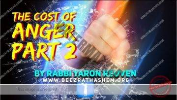 MUSSAR Pirkei Avot (109) The Cost Of Anger PART 2