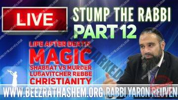 STUMP THE RABBI 12 Life After Death, Magic, Shabbat vs Murder, Lubavitcher Rebbe, Christianity