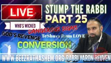 STUMP THE RABBI PART 25 Whos Wicked, Dangerous Signs, Gods Revenge, TeShuva From LOVE, CONVERSION