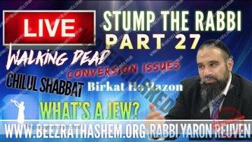 STUMP THE RABBI PART 27 Walking Dead, Conversion Issues, Chilul Shabbat, Birkat HaMazon, Whats A Jew