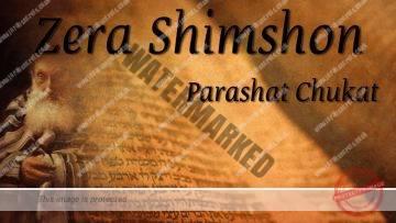 Zera Shimshon – Parashat Chukat – Whats todays challenge? – Rabbi Alon Anava