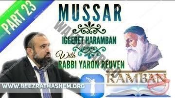 MUSSAR Iggeret HaRAMBAN PART (23) The Humility of the Spiritual Criminals