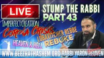 STUMP THE RABBI PART (43) Corona CRISIS, Imperfect CREATION, HEAVEN & HELL, Lubavitcher Rebbe REBUKE