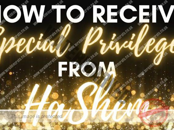 How To Receive SPECIAL PRIVILEGES From HaShem?
